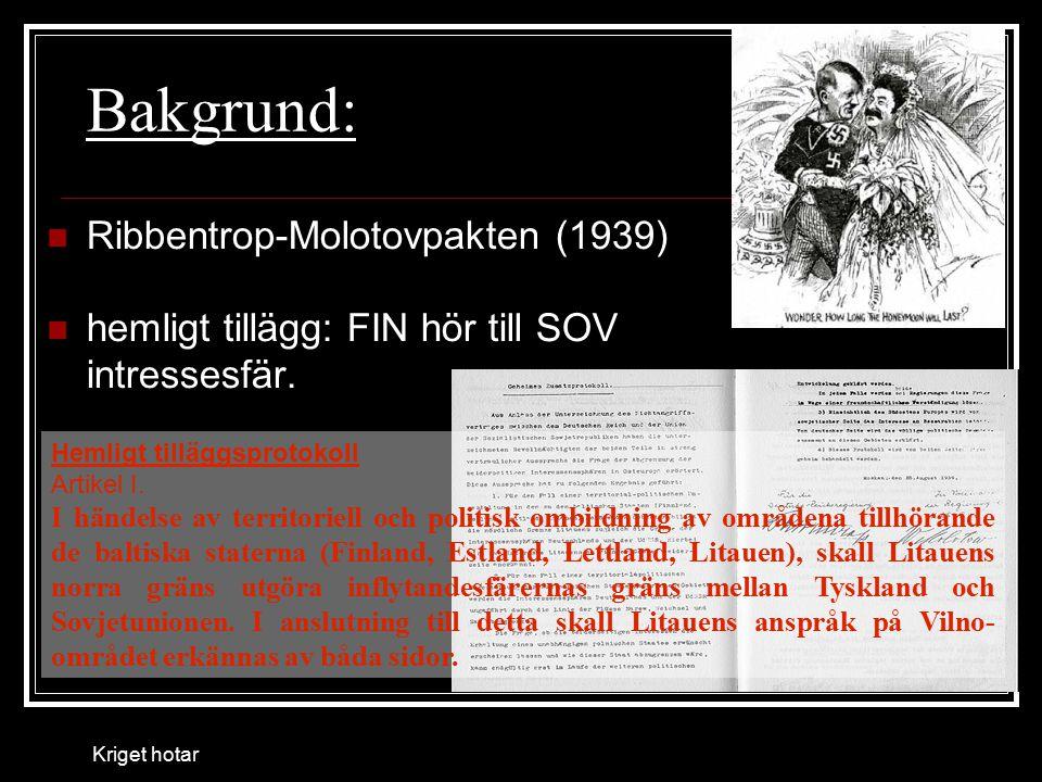 Bakgrund: Ribbentrop-Molotovpakten (1939)