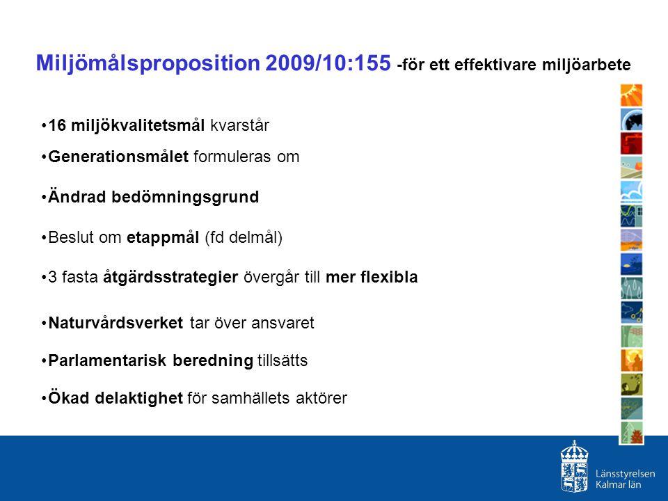 Miljömålsproposition 2009/10:155 -för ett effektivare miljöarbete