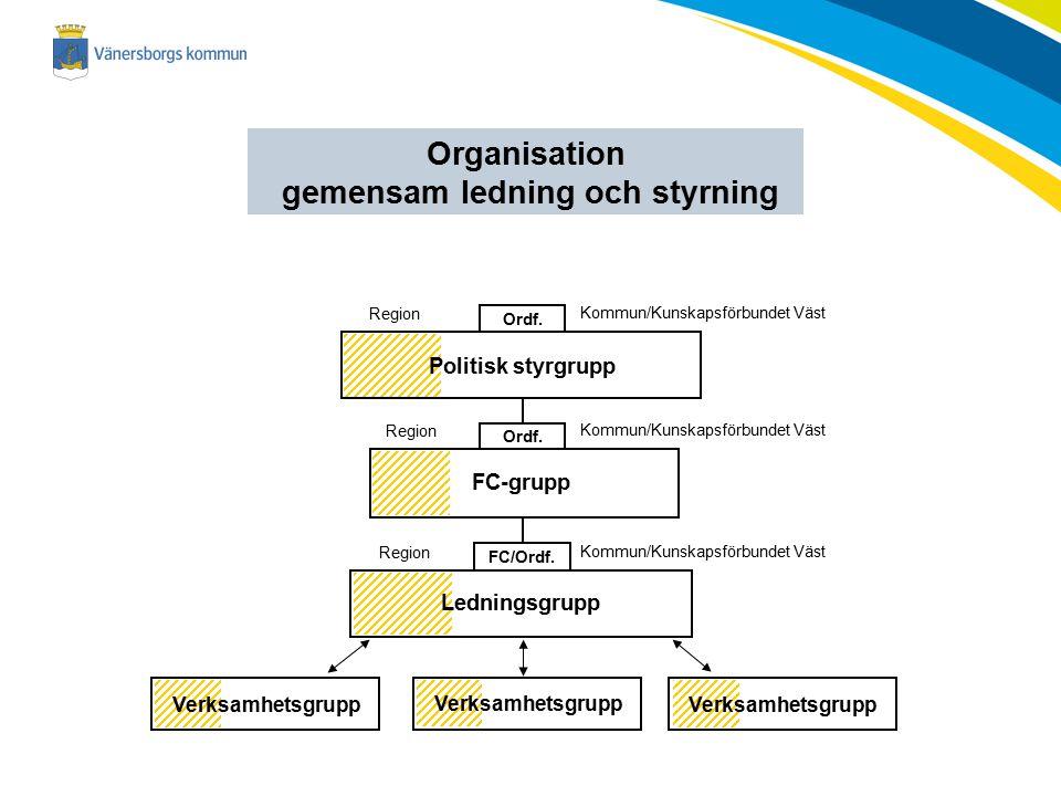 Organisation gemensam ledning och styrning