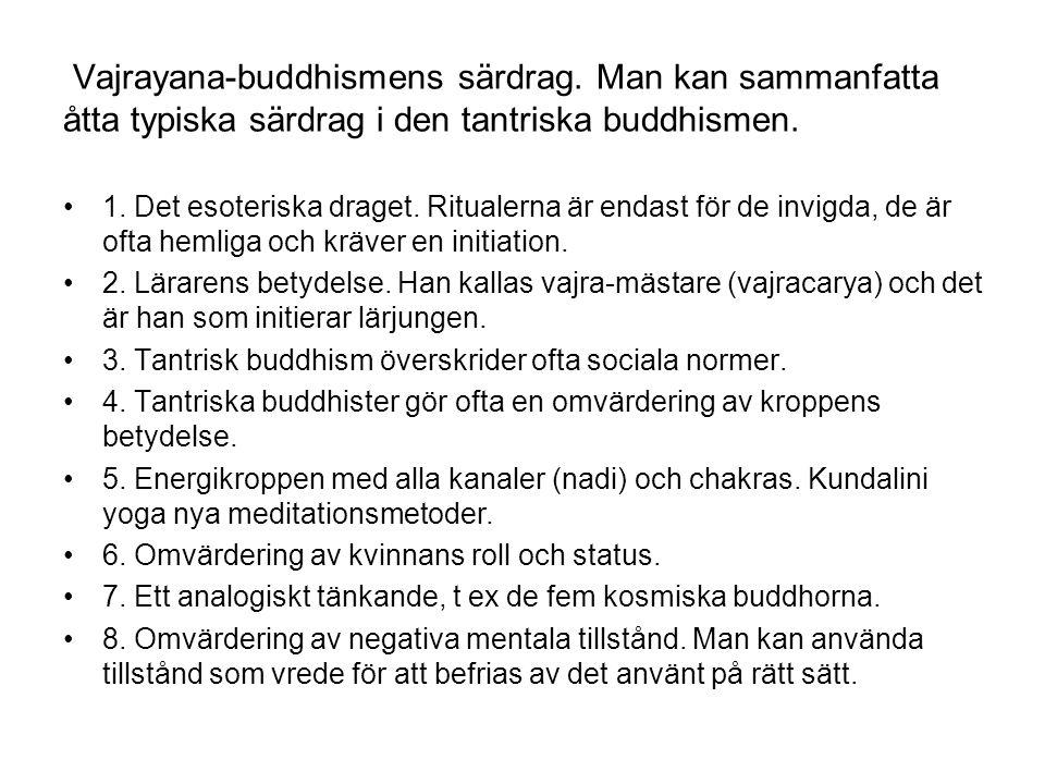 Vajrayana-buddhismens särdrag