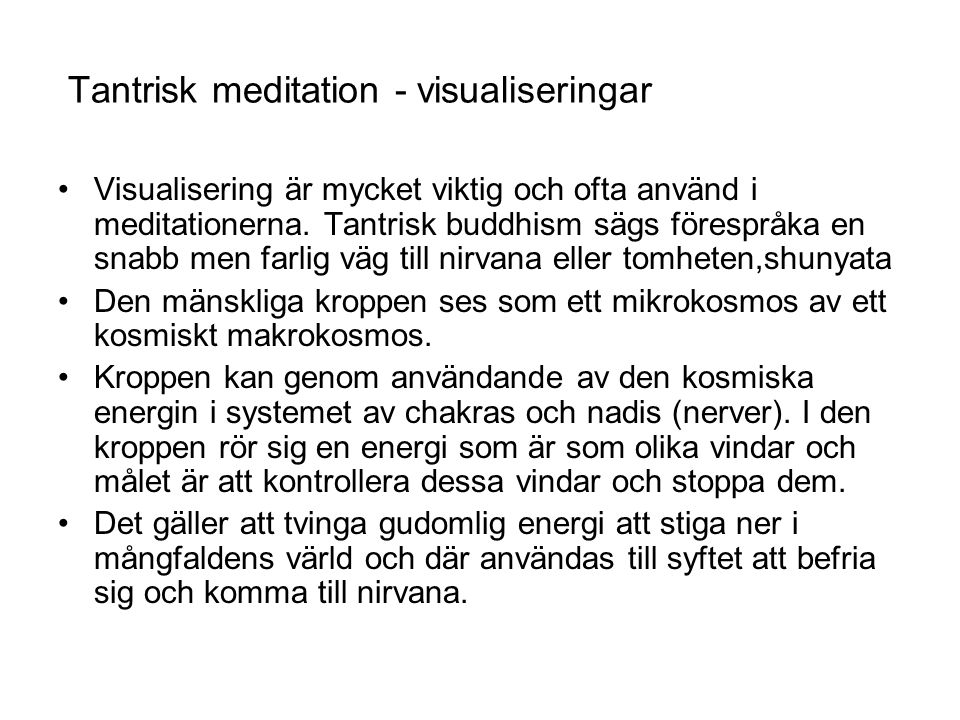 Tantrisk meditation - visualiseringar
