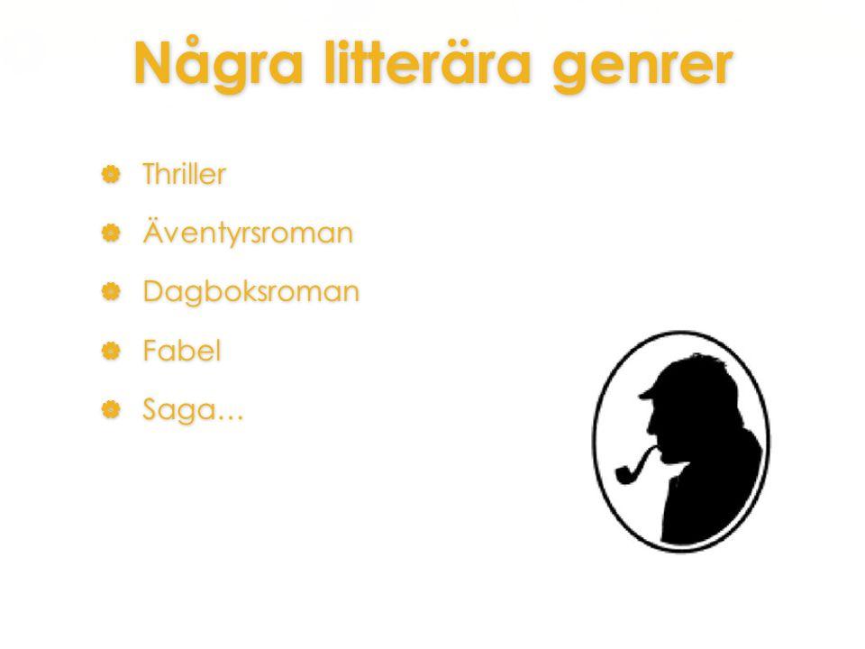 Några litterära genrer