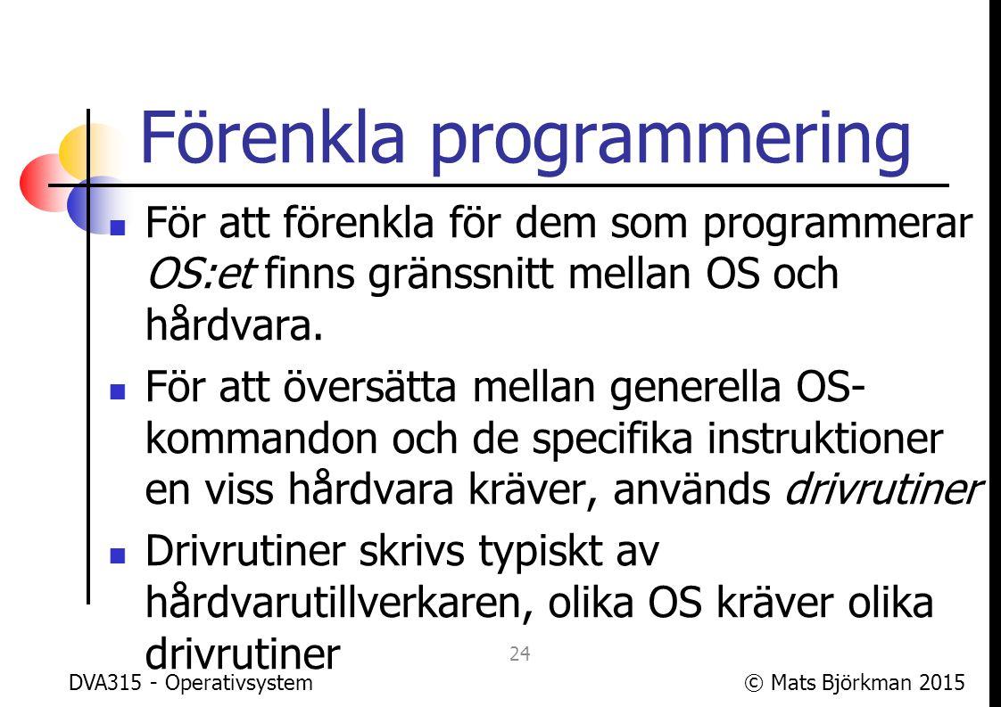 Förenkla programmering