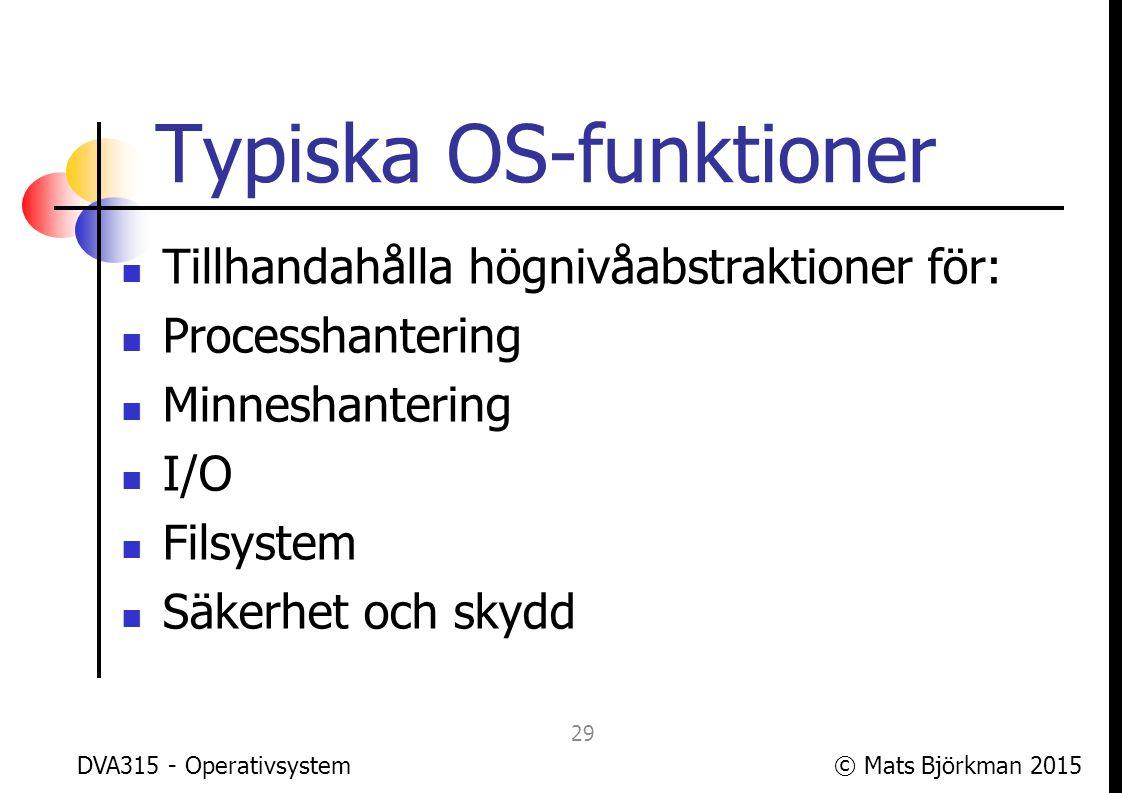 Typiska OS-funktioner