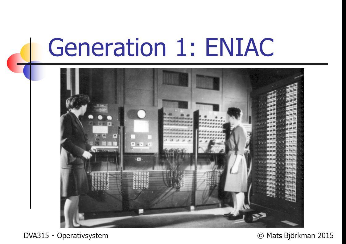 Generation 1: ENIAC DVA315 - Operativsystem