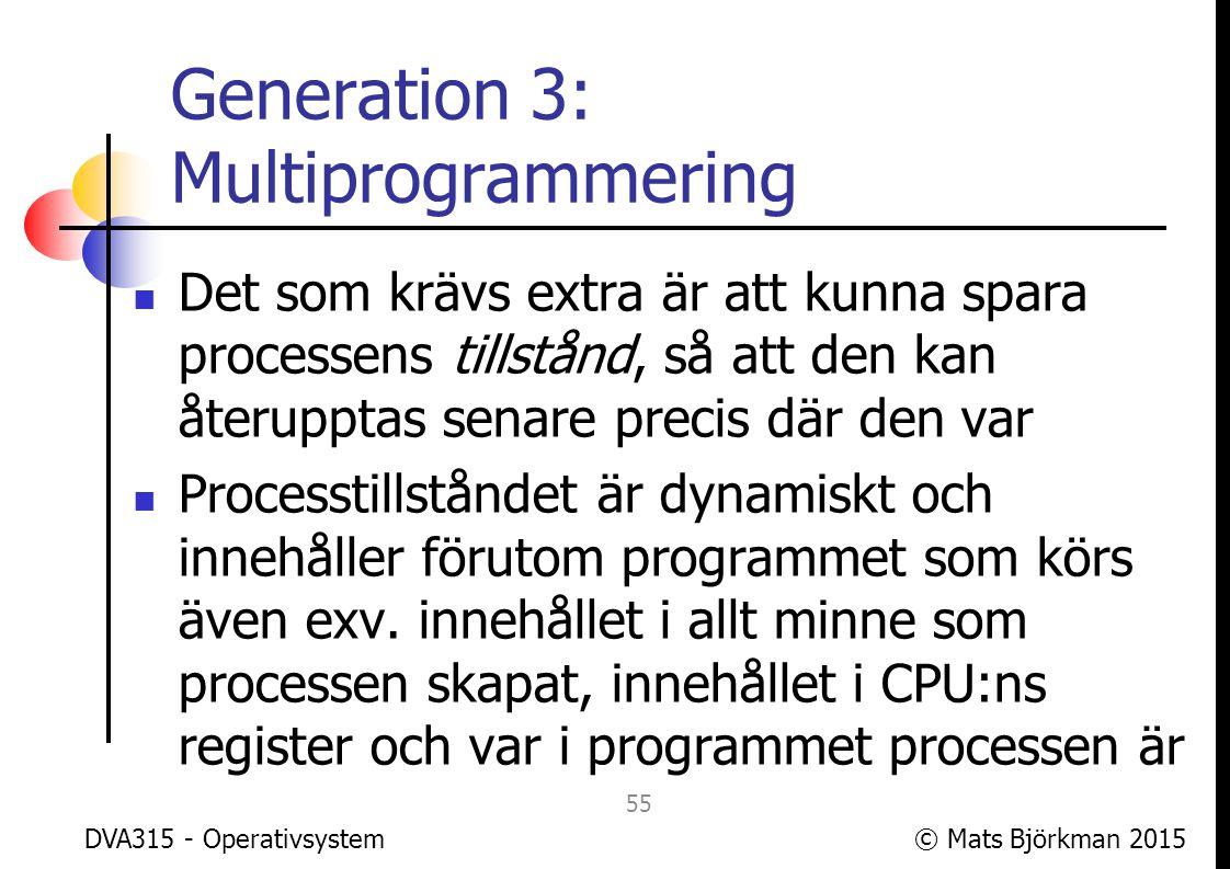 Generation 3: Multiprogrammering