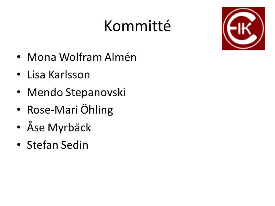 Kommitté Mona Wolfram Almén Lisa Karlsson Mendo Stepanovski