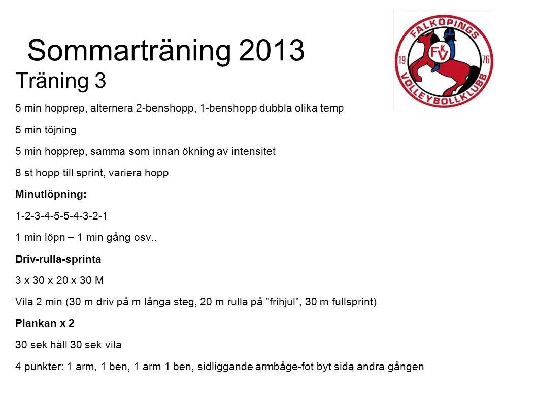 Sommarträning 2013 Träning 3