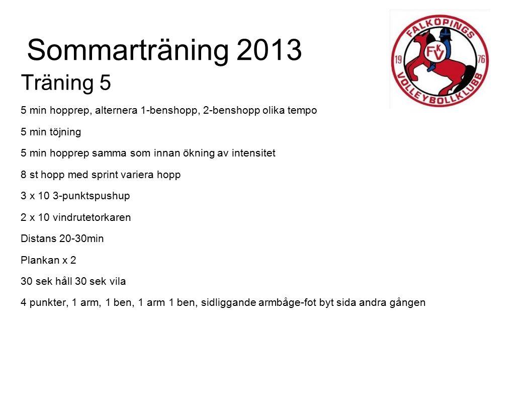 Sommarträning 2013 Träning 5
