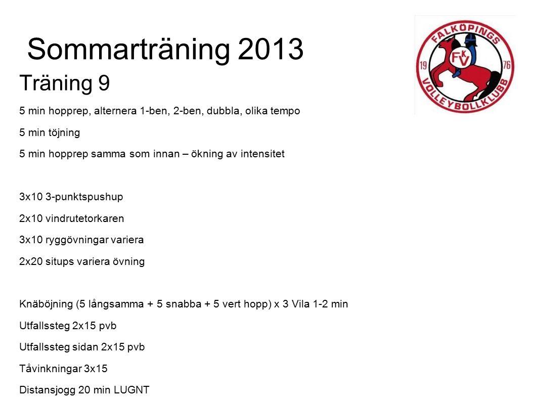 Sommarträning 2013 Träning 9
