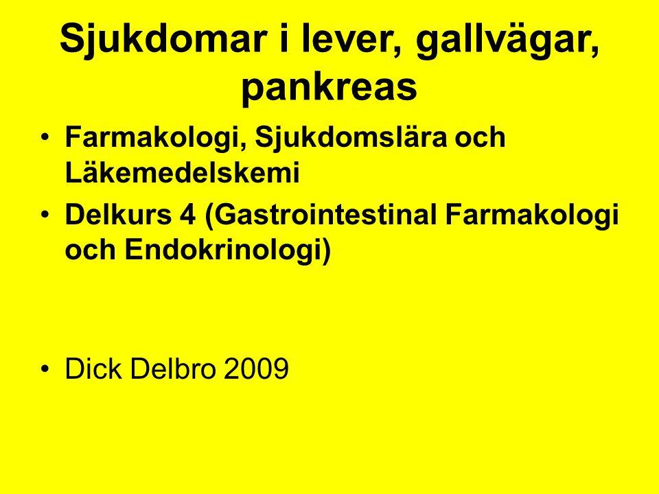 Sjukdomar i lever, gallvägar, pankreas