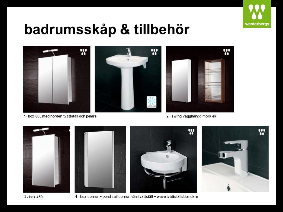 badrumsskåp & tillbehör