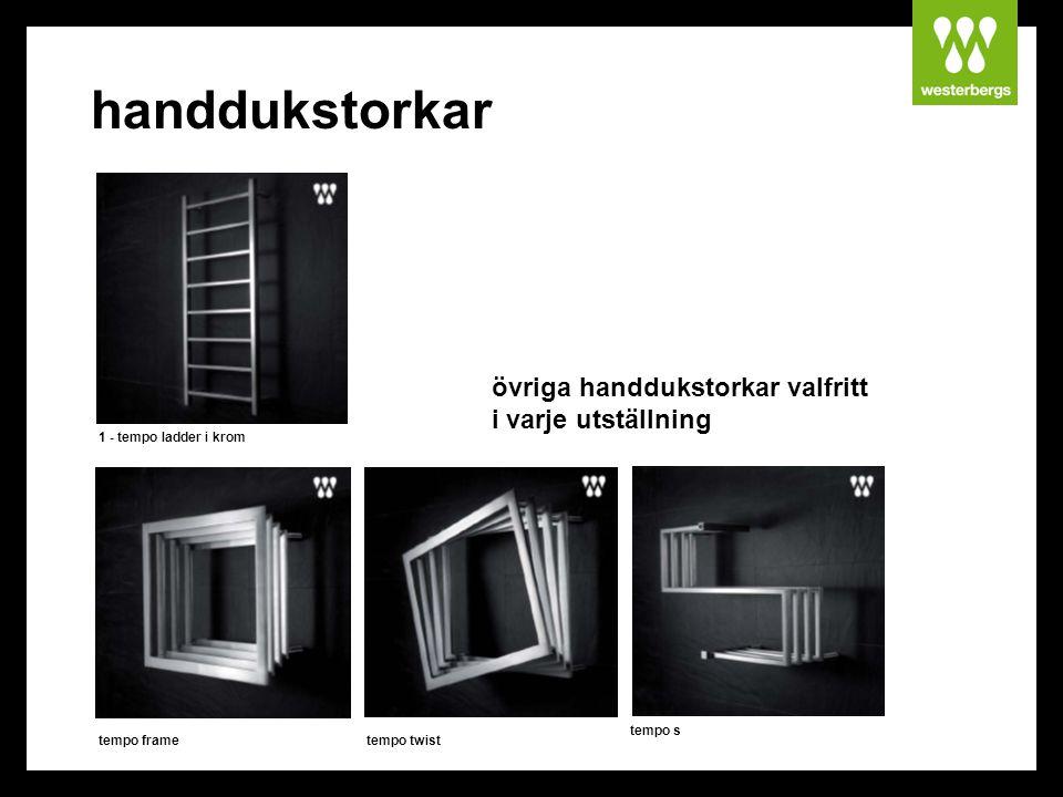 handdukstorkar övriga handdukstorkar valfritt i varje utställning