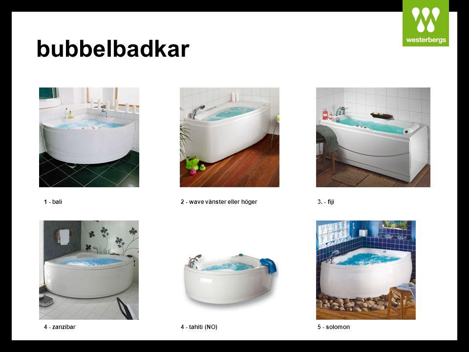 bubbelbadkar 1 - bali 2 - wave vänster eller höger 3. - fiji