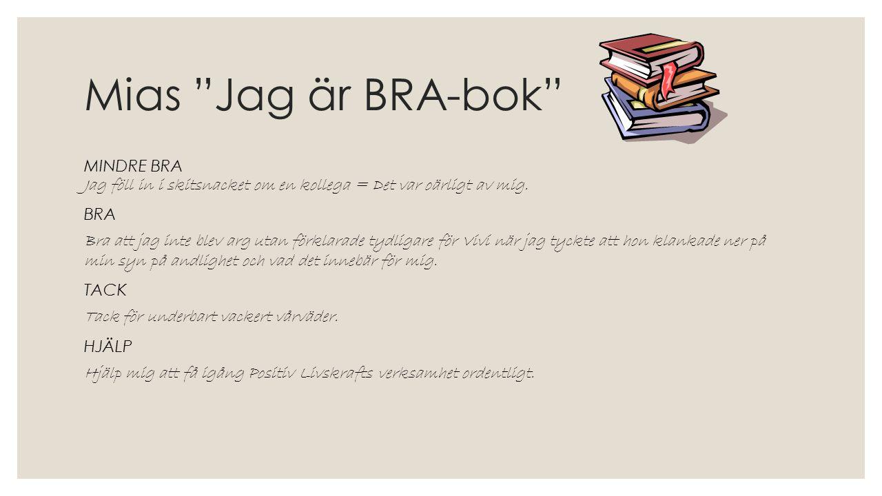 Mias Jag är BRA-bok