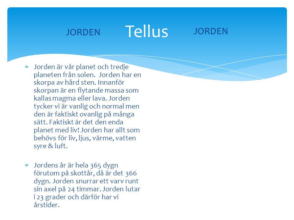 JORDEN Tellus. JORDEN.
