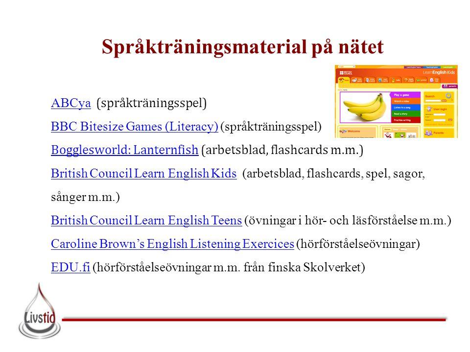 Språkträningsmaterial på nätet