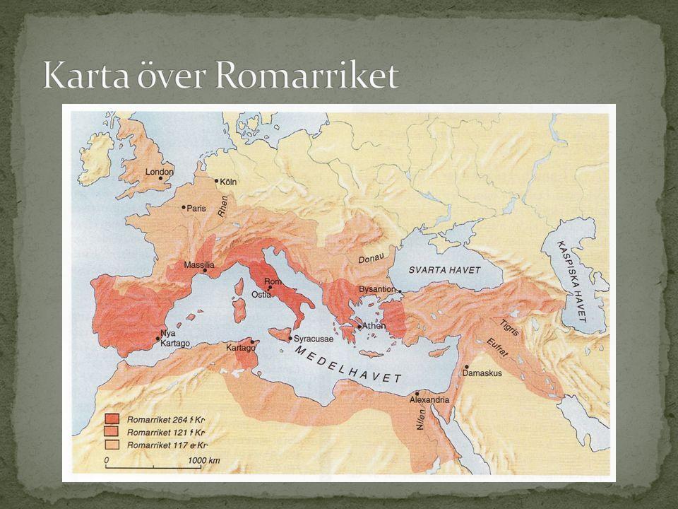 Karta över Romarriket