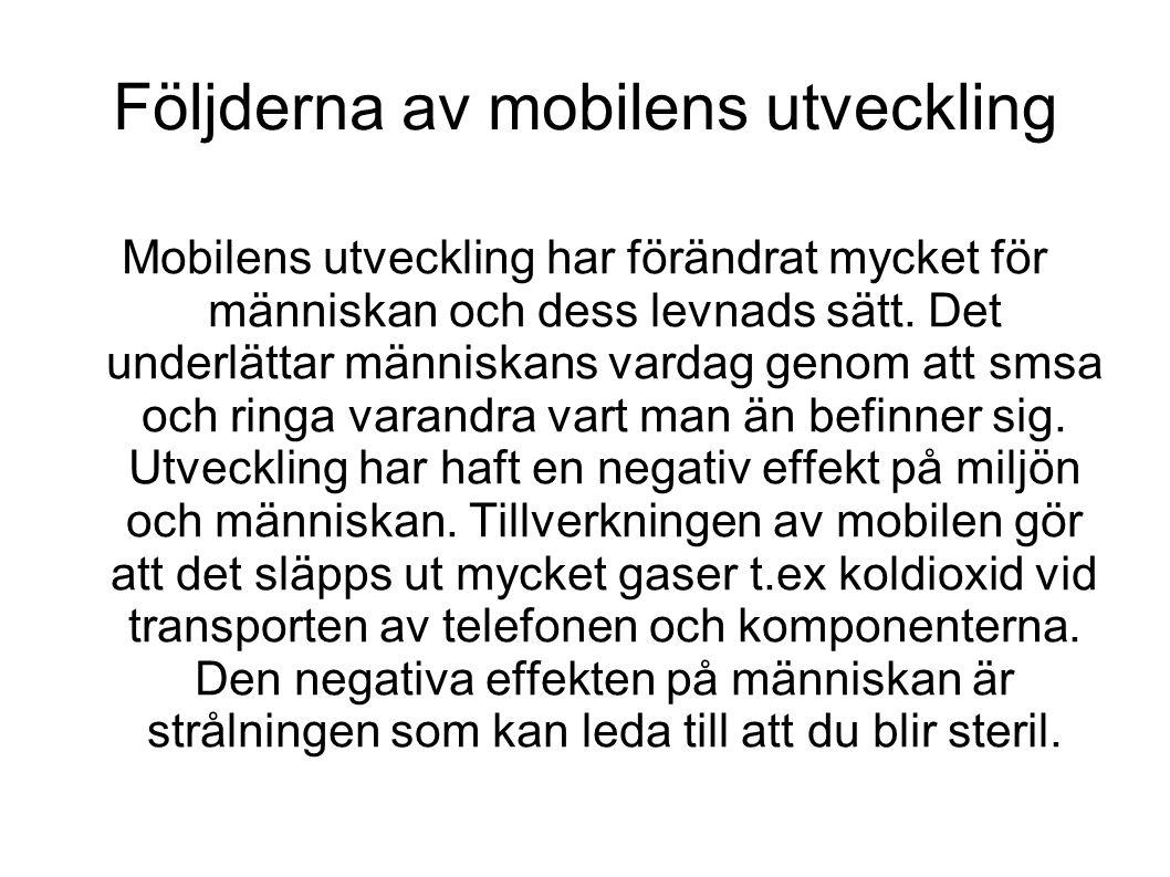 Följderna av mobilens utveckling