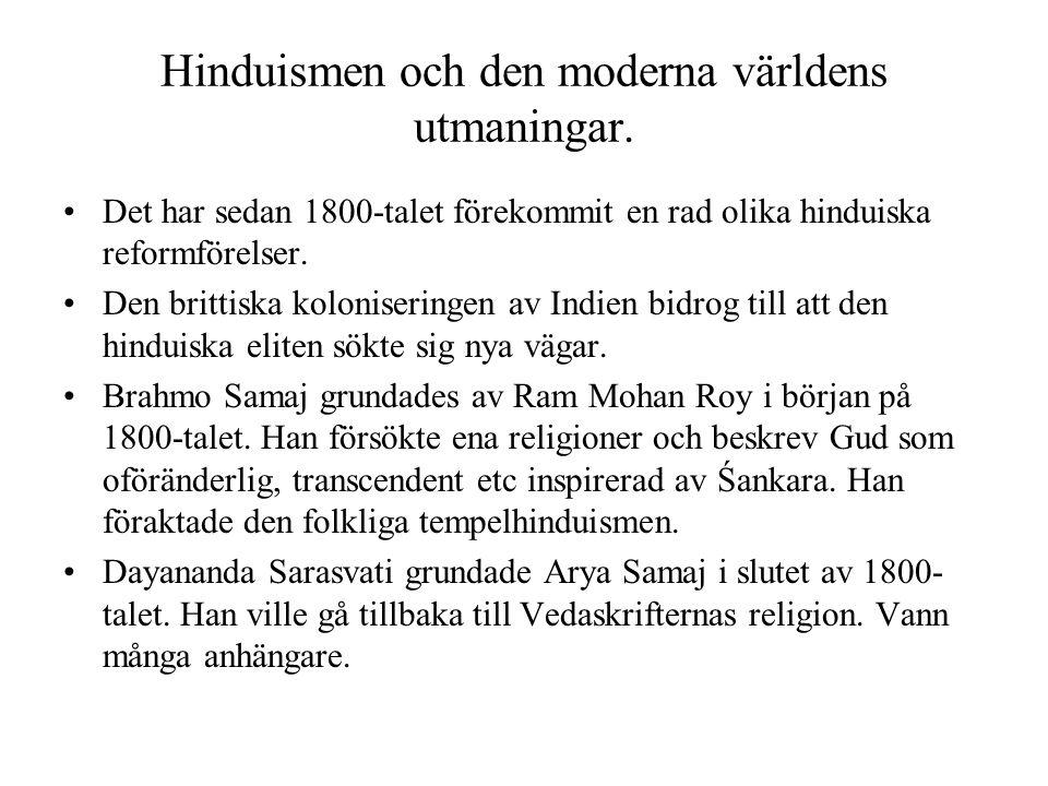 Hinduismen och den moderna världens utmaningar.
