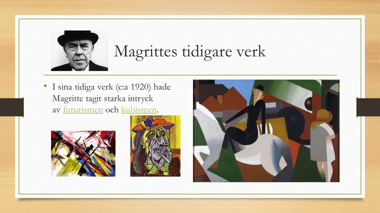 Magrittes tidigare verk