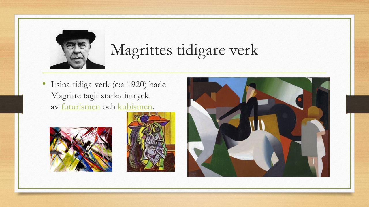 Magrittes tidigare verk
