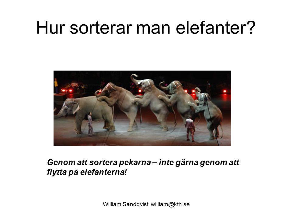 Hur sorterar man elefanter