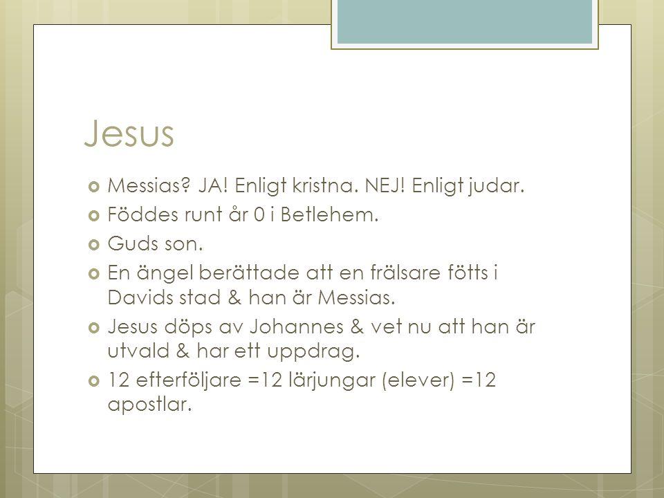Jesus Messias JA! Enligt kristna. NEJ! Enligt judar.