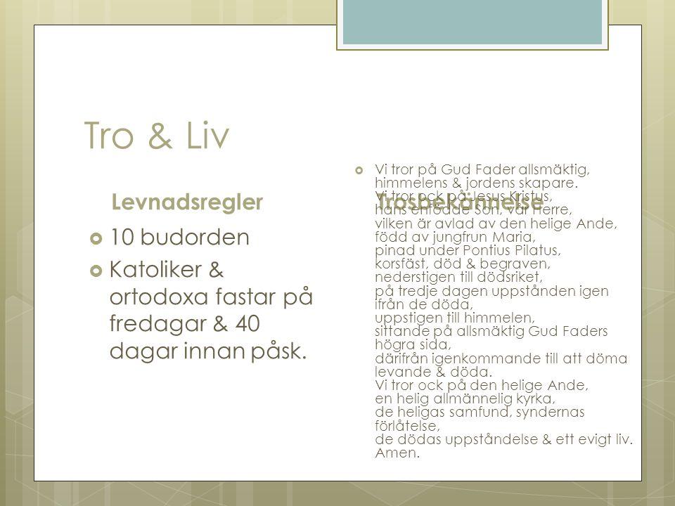 Tro & Liv Levnadsregler Trosbekännelse 10 budorden