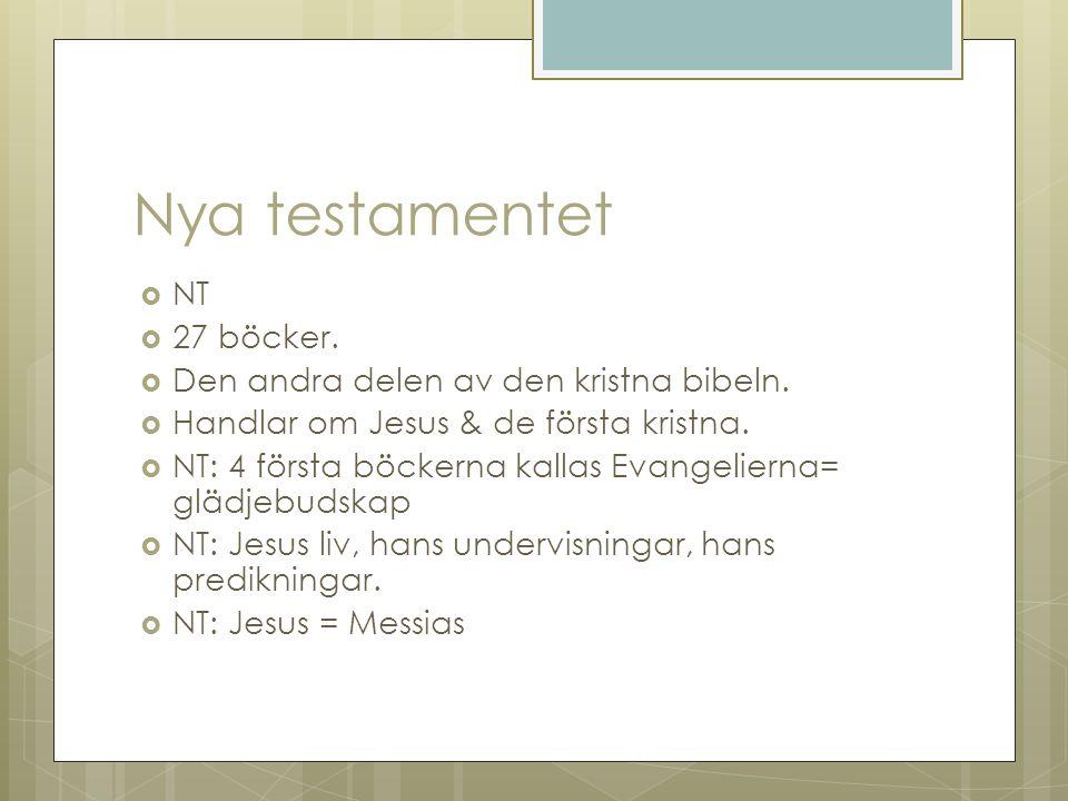 Nya testamentet NT 27 böcker. Den andra delen av den kristna bibeln.