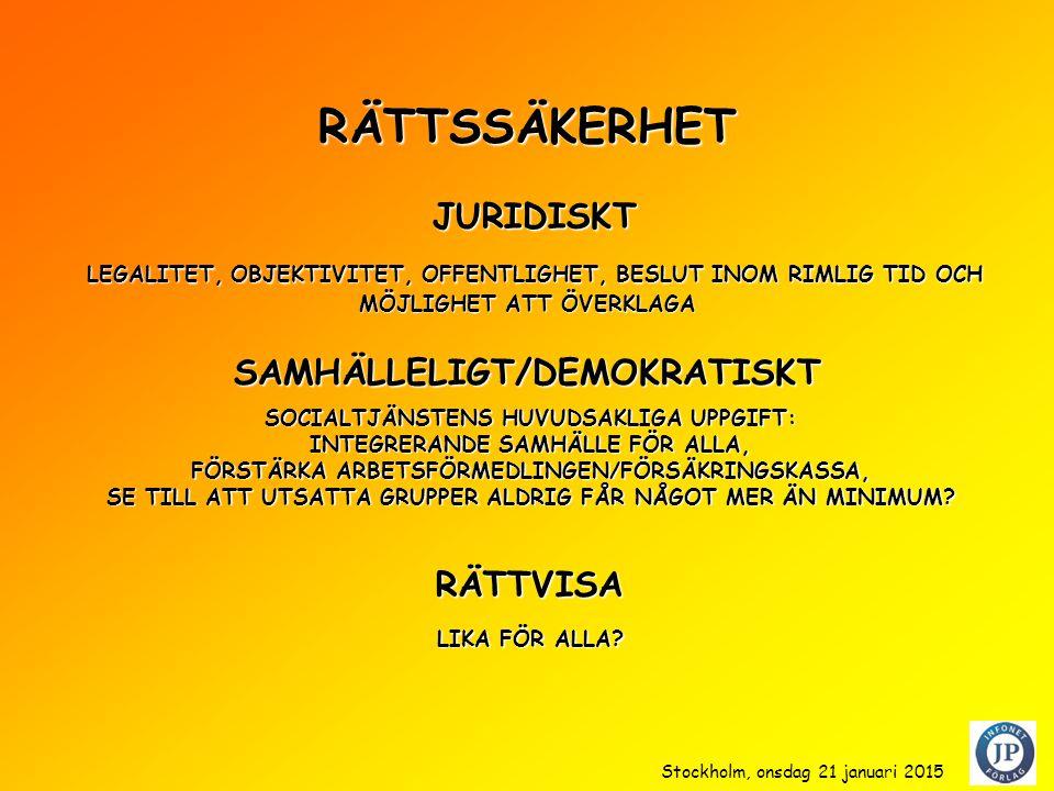RÄTTSSÄKERHET JURIDISKT