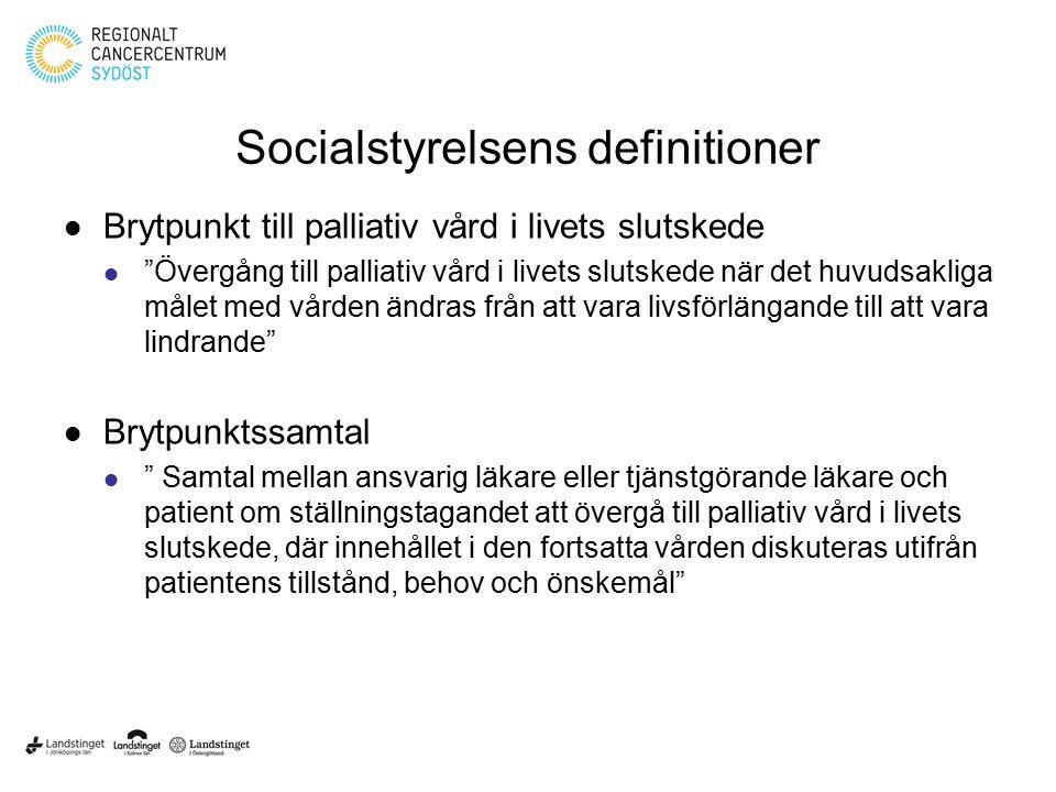 Socialstyrelsens definitioner