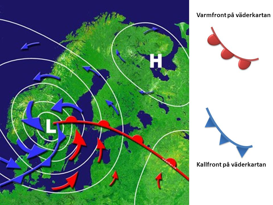 Varmfront på väderkartan