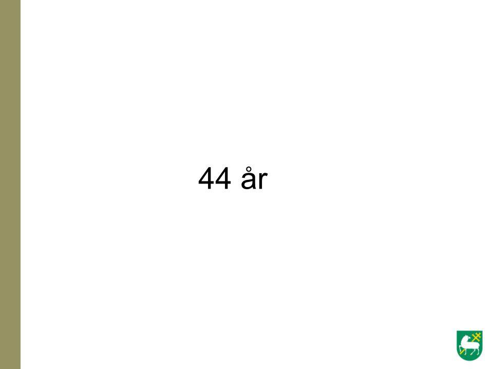 44 år