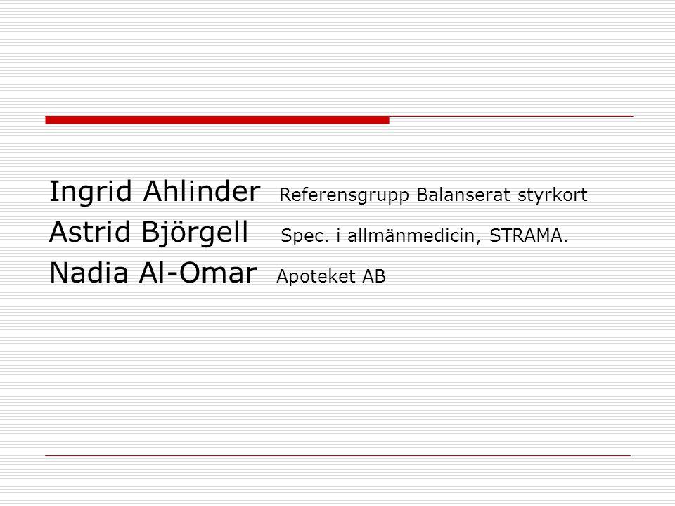 Ingrid Ahlinder Referensgrupp Balanserat styrkort
