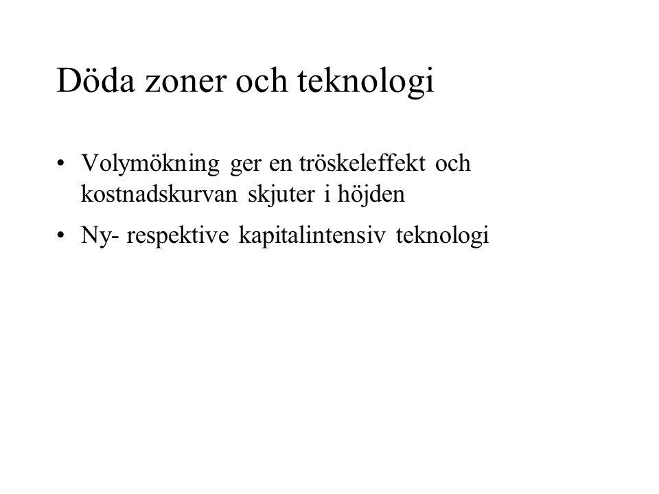 Döda zoner och teknologi