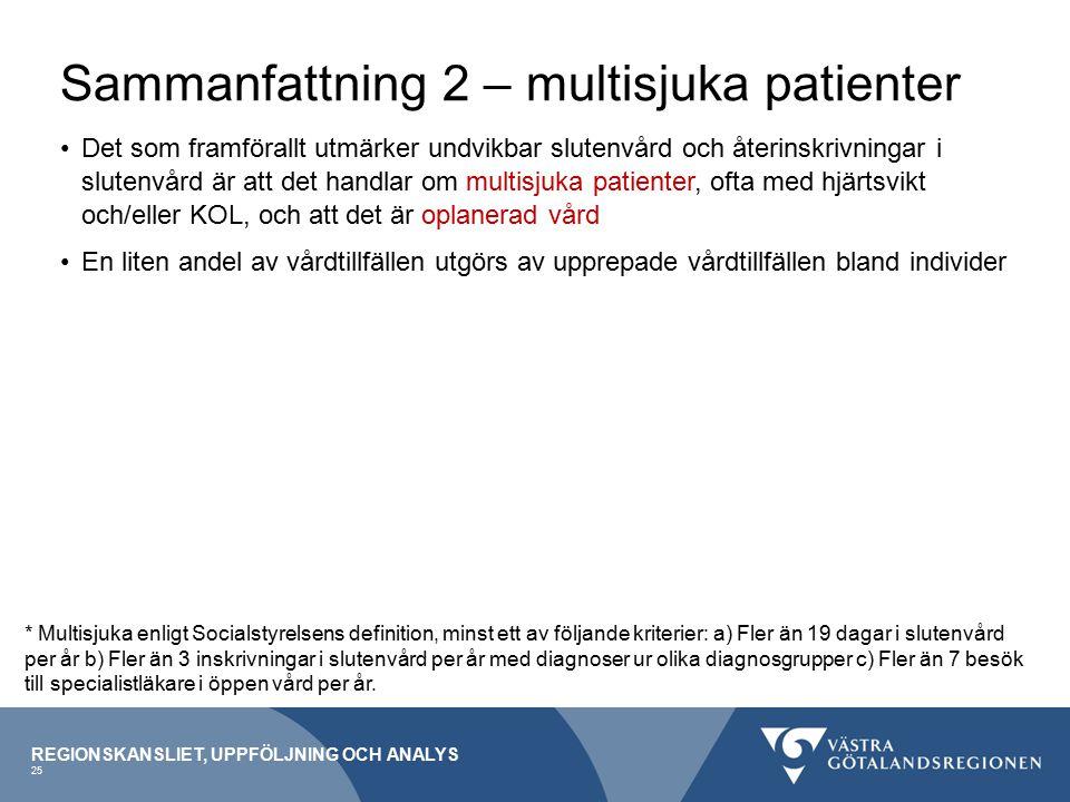 Sammanfattning 2 – multisjuka patienter