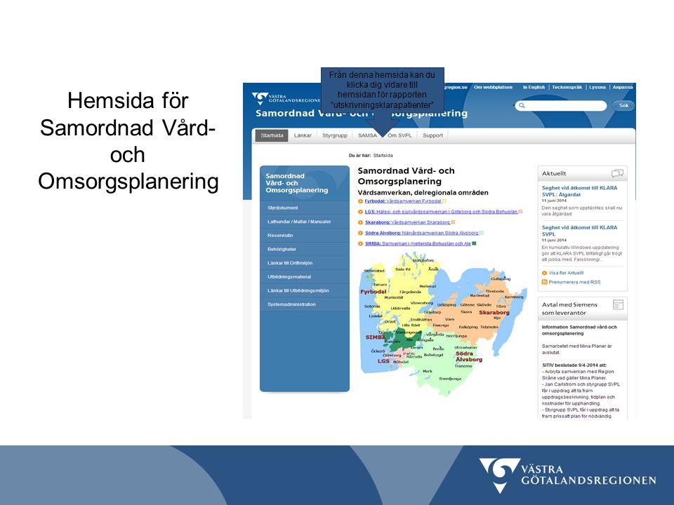 Hemsida för Samordnad Vård- och Omsorgsplanering
