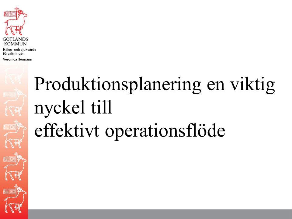 Produktionsplanering en viktig