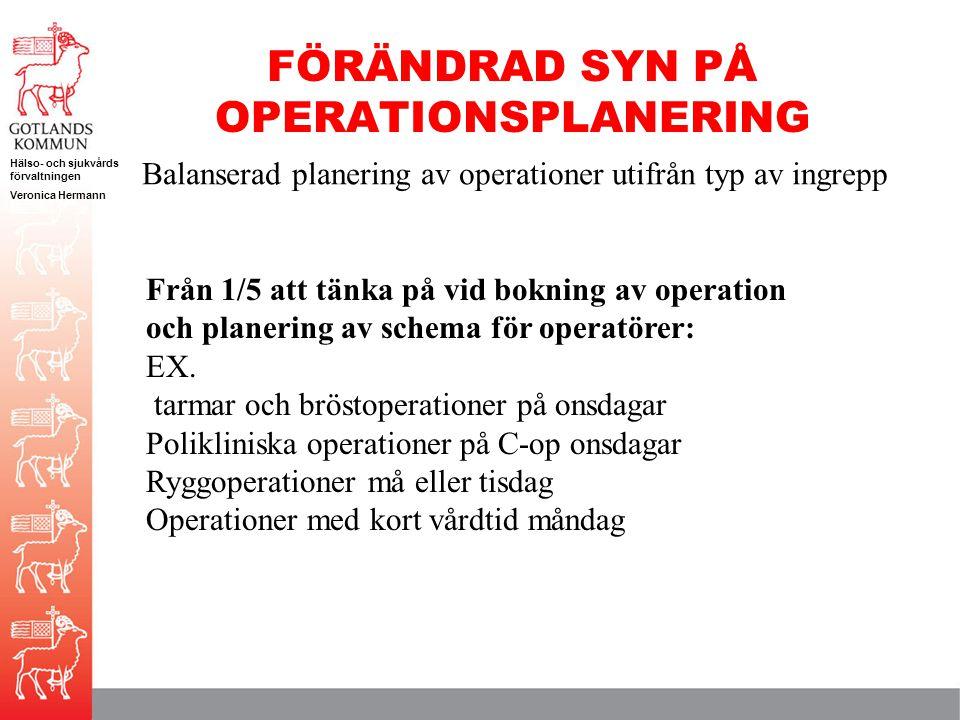 FÖRÄNDRAD SYN PÅ OPERATIONSPLANERING