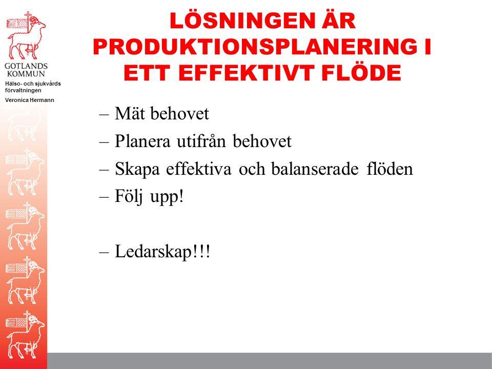LÖSNINGEN ÄR PRODUKTIONSPLANERING I ETT EFFEKTIVT FLÖDE