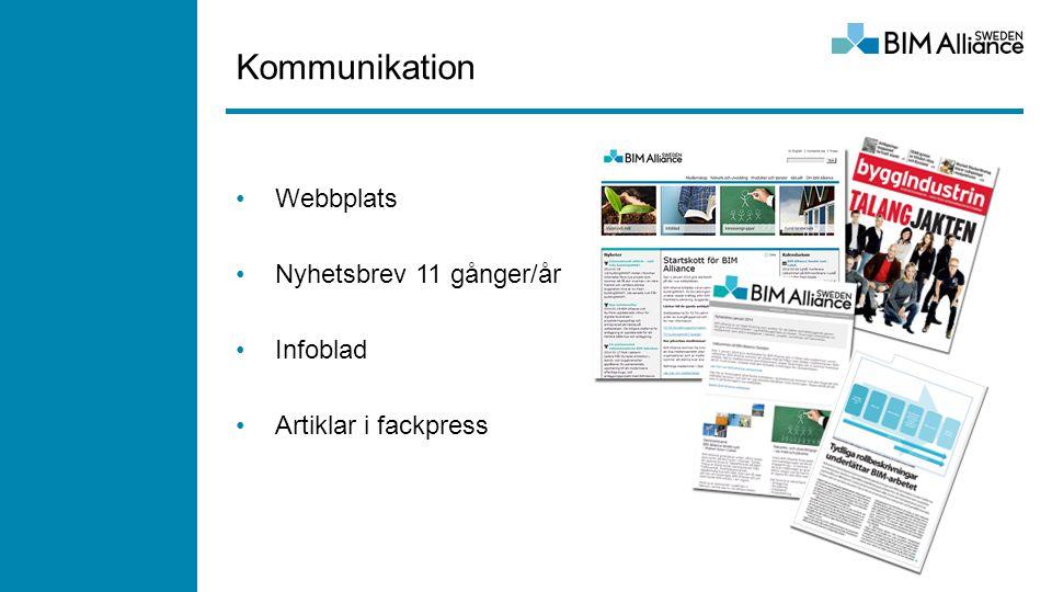 Kommunikation Webbplats Nyhetsbrev 11 gånger/år Infoblad