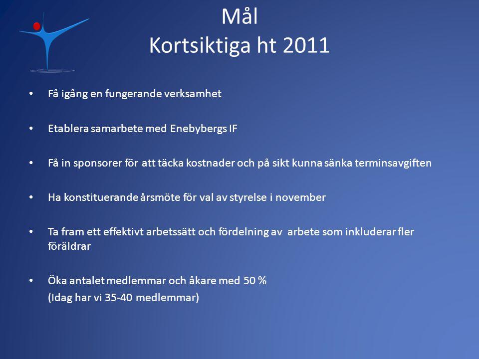 Mål Kortsiktiga ht 2011 Få igång en fungerande verksamhet