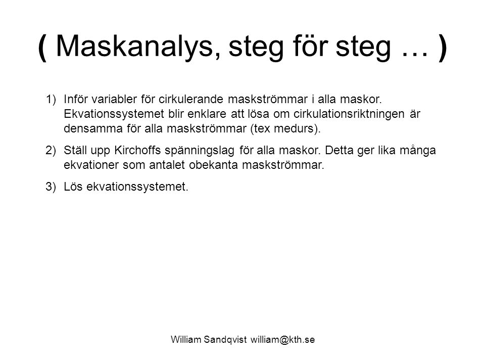 ( Maskanalys, steg för steg … )
