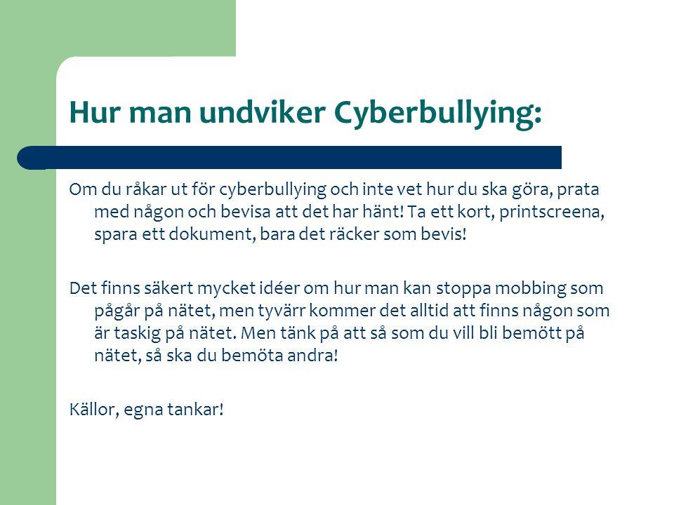 Hur man undviker Cyberbullying: