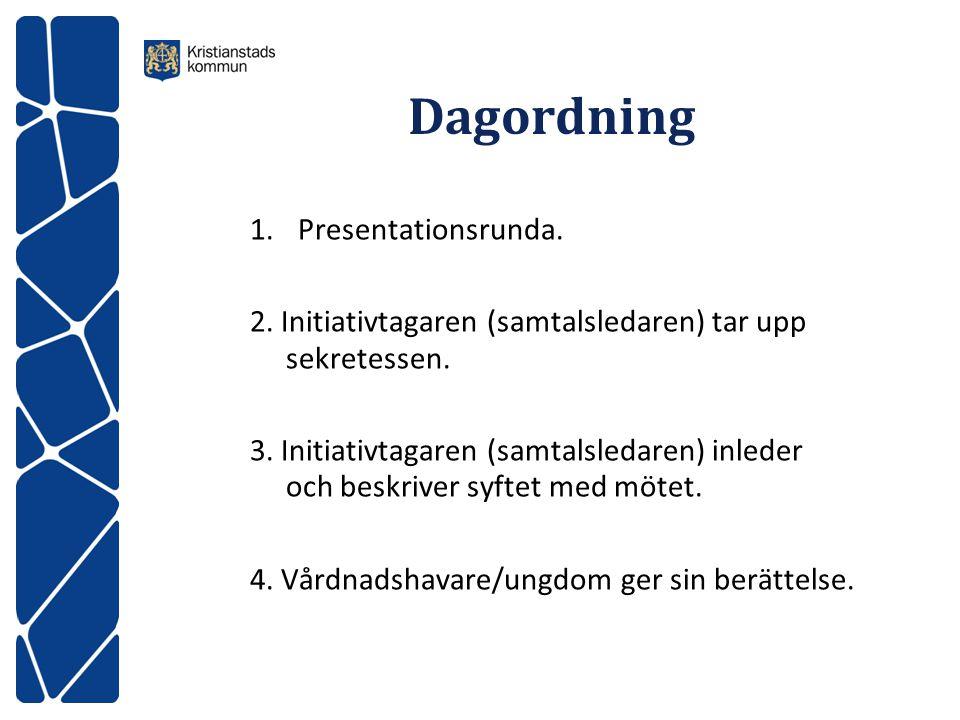 Dagordning Presentationsrunda.
