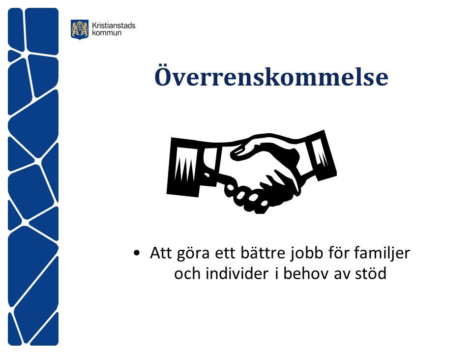 Att göra ett bättre jobb för familjer och individer i behov av stöd