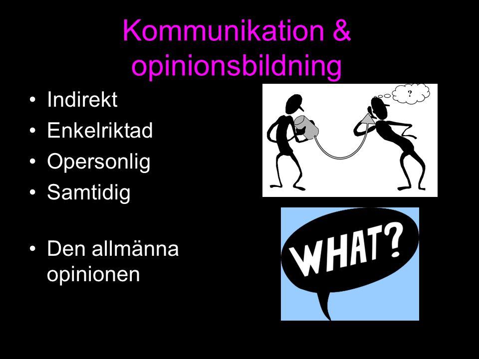 Kommunikation & opinionsbildning