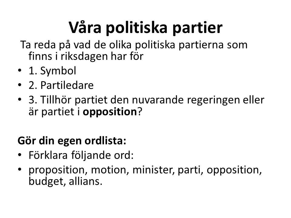Våra politiska partier