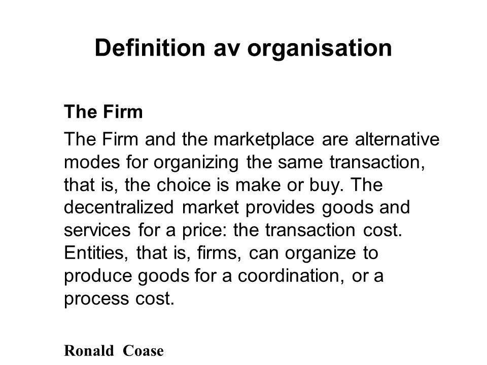 Definition av organisation